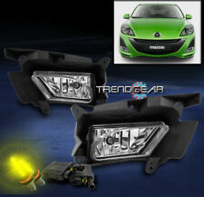 2010-2011 MAZDA 3 SEDAN HATCHBACK BUMPER CHROME FOG LIGHT +3000K HID KIT+HARNESS