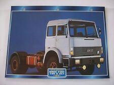 CARTE FICHE CAMION TRACTEUR CABINE AVANCEE UNIC FIAT 190 U 35 T 1978
