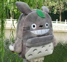 Small Grey Totoro Plush Anime Kids Shouler SchoolBag Backpack Bag Size:25 X19CM