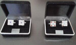 Silver Plating Cross Cufflinks with Swarovski Crystal Stone Suit Shirt Gemelos