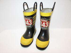 Sz 8 Fire Chief Fireman Pull On Rain Rubber Boots Western Chief Boys Girl Unisex