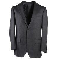 New $3250 SARTORIA CASTANGIA Gray Herringbone Soft Wool-Blend Sport Coat 36 R