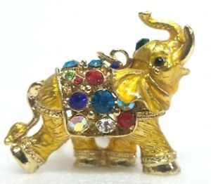 Elephant Gold Key Metal Chain with Stones