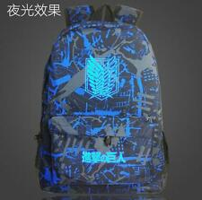Luminous Anime Attack on Titan Outdoor Laptop School Bag Knapsack Backpack Gift
