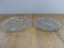 2 x Kuchenplatte Tortenplatte Gebäckteller Kristallglas Bleikristall 50er 60er