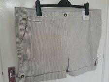 SIZE 22 LADIES STRIPED SHORTS BY MARKS & SPENCER PER UNA