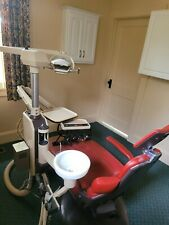 Pelton Crane Dental Multi Use Chair Red Wide Back Four Chair Positions