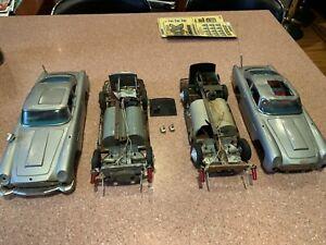 2 Vintage James Bond 007 Gilbert Aston Martin DB5 Car One Runs For Parts