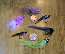 (#281) Lot Of 6 Fly Lures With Rattles - #2 Freshwater Hooks