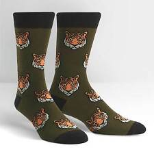 Tigers on Men's Crew Socks by Sock It To Me