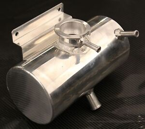 1.5 Universal Coolant Water Expansion Header Tank Bottle Aluminium Alloy Kit Car