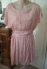 FRIENDS OF COUTURE - Peach & White Dress Floral Vintage Retro PinUp 14