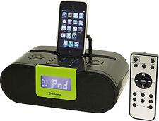 Roadstar HRA-500IP gr iPod iPhone iPad Docking Station mit Radio und Wecker