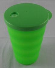 Tupperware J 37 Junge Welle Trinkbecher Becher mit Deckel 330 ml Neongrün Neu