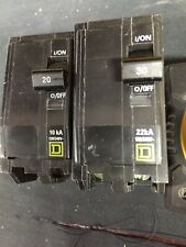 SQUARE D QYU230SWN//32283* 2 POLE 30 AMP MINIATURE CIRCUIT BREAKER 45187