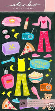 STICKERS VELLUM STICKO * PYJAMA PARTY ** scrapbooking
