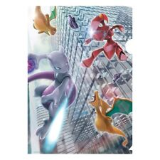 Pokemon - Clear File Folder - Mewtwo vs Red Genesect (w Charizard & Dragonite)