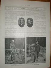Photo article death airship pilot Baron De Bradsky 1902