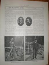 Photo article death airship pilot Baron De Bradsky 1902