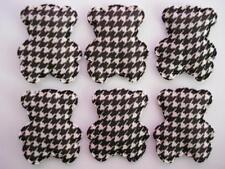 50 Black/White Design Fabric Bear Motif Applique/sewing trim/quilting/Craft H457
