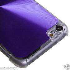 Apple iPod Touch 5 Brushed Aluminum Case Back Cover Accessory Purple