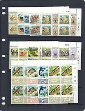 SAMOA 1972-5 MARINE LIFE definitives (Scott 369-78c) VF MNH plate blocks of 4
