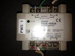 OMRON POWER SUPPLY, #S82K, OUTPUT-DC24V, A, 30 DAY WARRANTY, FREE SHIPPING