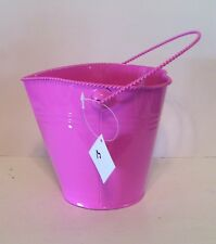 PINK METAL BUCKET DECORATION SPRING SUMMER VALENTINES DAY GIRLS ROOM DECORATION