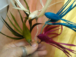 Vintage 1930s Feather Bird Millinery Fascinator 1pc Hand Made in Japan