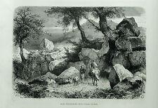1877:ROMA.ALBA FUCESE/ALBA FUCENS MURA CICLOPICHE.Xilo o in Passepartout.ETNA.
