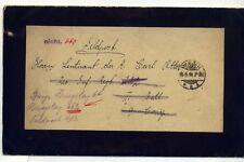 Deutsches Reich Feldpostbrief 1918 an Lazarett