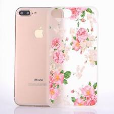 For iPhone 5 6s 7 Plus Case Clear Cute Patterned Soft Rubber TPU Silicone Cover