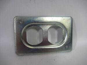 "Crouse-Hinds DS-23 Sheet Steel Duplex Box Cover .45""THx4.25""Lx2.7""W ! NOP !"
