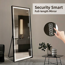 LED Aluminum Full Length standing Mirror with Touch Button