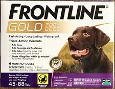 Frontline Plus Gold Flea&Tick Tx. For Large Dogs 45-88lb. 6 Month. Brand New