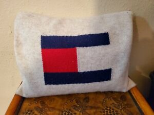 Tommy Hilfiger decorative throw pillow 100% wool duck feather pillow vintage