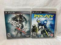 Lot Of 2 Tested Reflex  MX vs ATV & Alive MX vs ATV  PS3 Motocross Racing Game