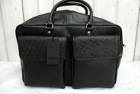 LIU JO Borsone da viaggio Nero Pelle Leather Travel Bag Tracolla Black Borsa