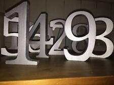 Números De Mesa De Boda 1-6, plata metalizado, números de Boda de Plata número de mesa