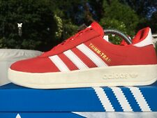 Adidas Trimm Trab Red & White Size 8 80s Football Casuals LFC England