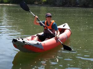 INTEX 68309 Kajak Excursion Pro K2 Schlauchboot Set für 1-2 Personen