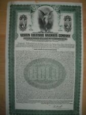 Vestische Kleinbahnen GmbH 19´27   Vesten Electric Railway Company  1000$ Bond