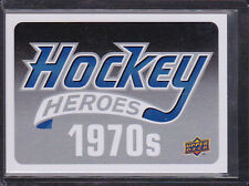 2012-13 Upper Deck Hockey Heroes #HDR Header Card 1970s