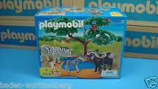 Playmobil 4828 safari Buffalo Zebra river animal diorama MIBNO NEW