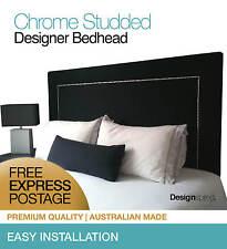 CHROME Stud Bedhead / Headboard for Queen Size Ensemble - Graphite