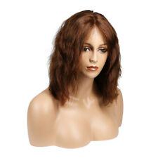 faryl crimp hair Pixie brunnette lace front Haircut bob brazilian Human Hair Wig