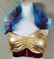 NWT Pumpers Metallic Gold/Red Top Costume  Adult L