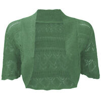 Ladies Bolero Shrug Women's Crochet Knitted Cardigan Plus Size Shrug Top 8-30