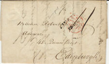 Great Britain, 1801 Stampless Cover, with Letter, from Liverpool to Edinburgh