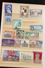 Collection of used postal stamps, Jamaica, Falkland, Ireland, Bahamas